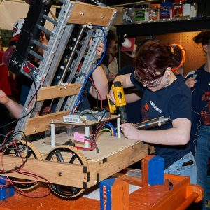 Students working on thier robot.