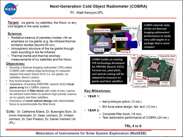 Next-Generation Cold Object Radiometer (COBRA)