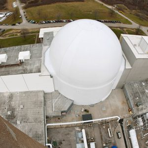 Space Power Facility (SPF) vacuum chamber dome exterior