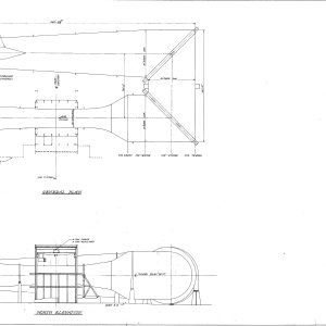 Blueprint with AWT elevations and general plan.