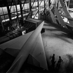 Large aircraft models.