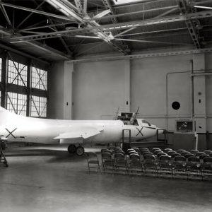 X-1 in hangar.