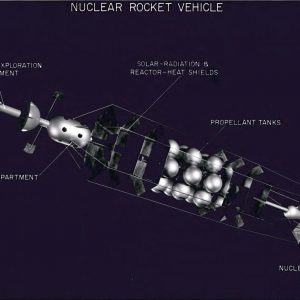 Nuclear rocket drawing.