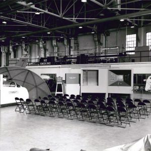 Empty chairs in Hangar.