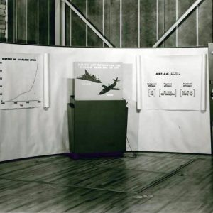 Supersonic aircraft display.