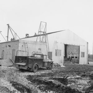 Exterior view of A Site during construction