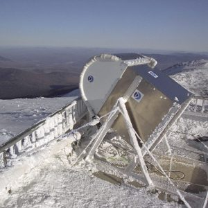 Remote sene=subg equipment setup at Mt. Washington.