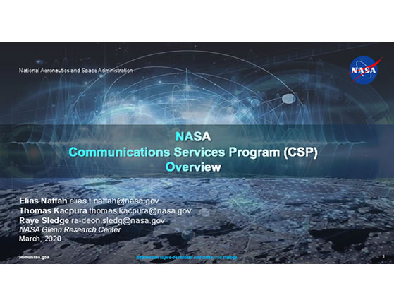 CSP Briefing to Industry SATELLITE 2020