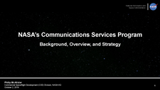 NASA's Communications Services Program - Background, Overview, and Strategy