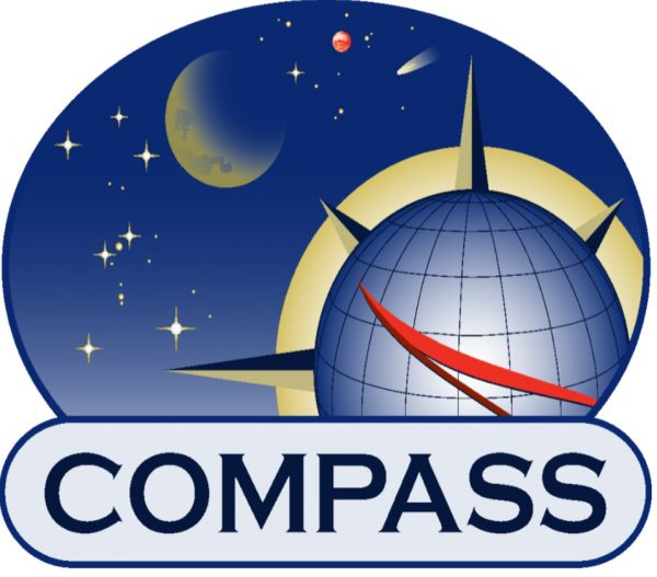 Team logo featuring points of a compass on a celestial background.