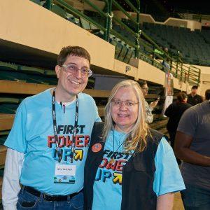 Two of our 2018 Buckeye Regional volunteers.