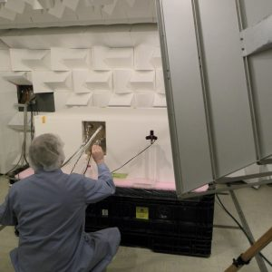 Test setup in the Electromagnetic Interference Laboratory