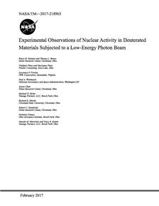 Osservazioni sperimentali dell'attività nucleare in materiali deuterati sottoposti a un fascio di fotoni a bassa energia