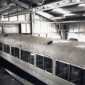 Train car inside F Site