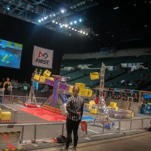 A view of the field during a competition.