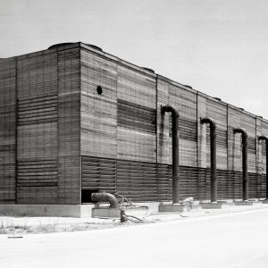 Exterior of Altitude Wind Tunnel Cooling Tower.