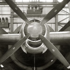 Wright R-3350 Engine for B-29 in Altitude Wind Tunnel test section.