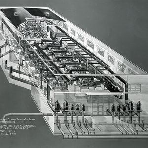Isometric drawing of the Refrigeration Building and its equipment