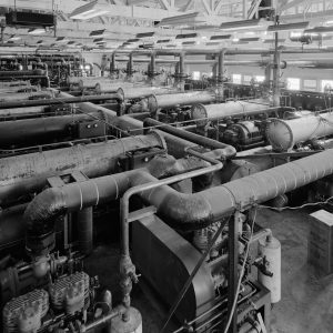 Cooling equipment inside the Refrigeration Building.