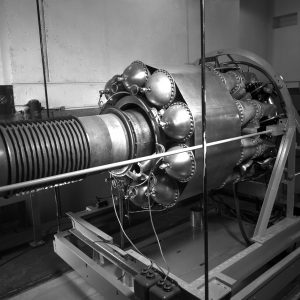 I-16 engine installed in JPSL test cell