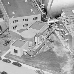Aerial view of Air Dryer Building.