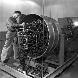 JPSL Cell 3 with a General Electric I-40 engine