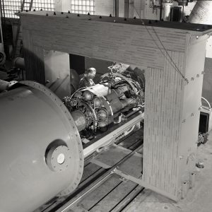 Engine test stand.