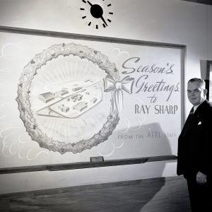 Sharp with blackboard.