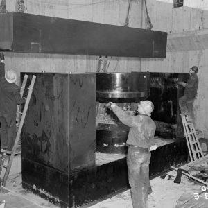 Crane lowering yoke.
