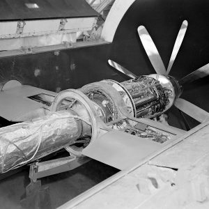 Armstrong-Siddeley Python turboprop engine in the AWT test section.