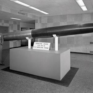 Missile model in lobby.