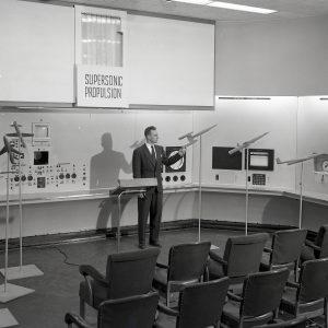 Exhibit in 8x6 control room.