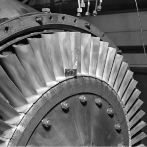 Air-cooled turbine for a General Electric I-40