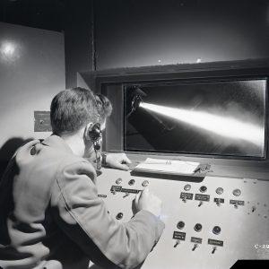 Research watches Rocket Lab test through viewing pane