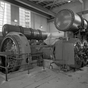 Compressor in Exhauster Building Addition.