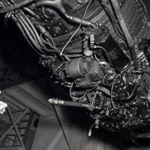 Underneath view of J71 engine.