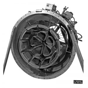 Flameholder configuration for a Wright XRJ47-W-5 ramjet engine