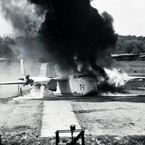 Aicraft crash test.