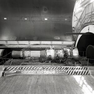 Avon RA-14 Engine in AWT Test Chamber.