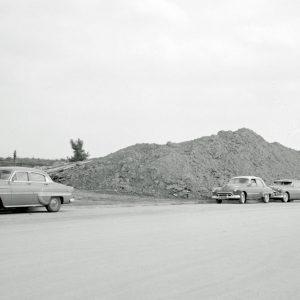 Mound of dirt.