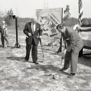 Men with shovels.