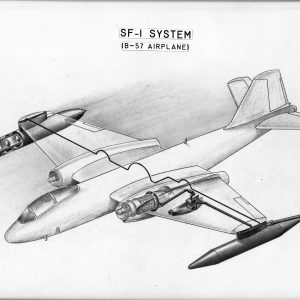 Schematic diagram of liquid hydrogen system in B-57B.