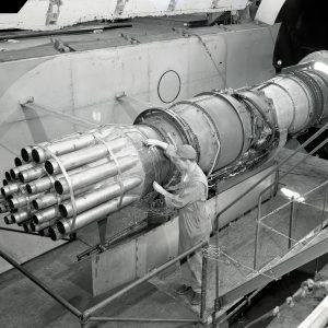 Pratt & Whitney J-57 in Altitude Wind Tunnel