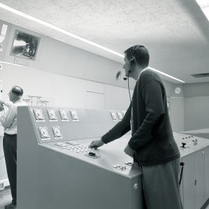 Two operators in control room