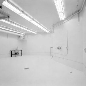 Interior of target room.