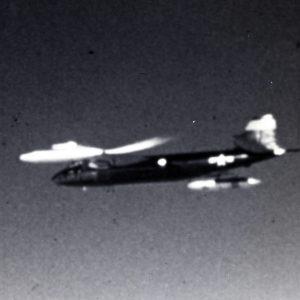 B-57B in flight.