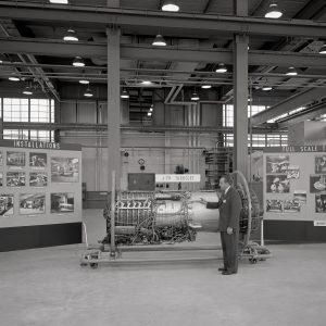 Engine with exhibit.