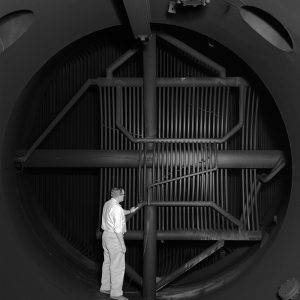 Entrance to a primary cooler as seen from the test chamber exhaust section