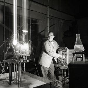 Siegel with microgravity equipment.