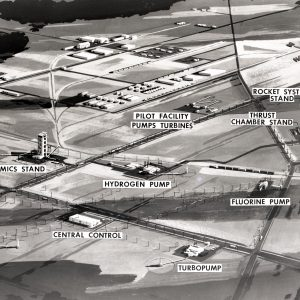 Drawing depicting locations of various Rocket Systems Area sites